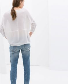 ZARA - NEW THIS WEEK - COMBINED KNIT T-SHIRT