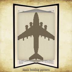 Book folding pattern Airplane Aircraft by FoldingBookPatterns