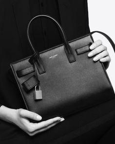 Saint Laurent Classic Nano Sac De Jour Bag In Black Grained Leather | ysl.com