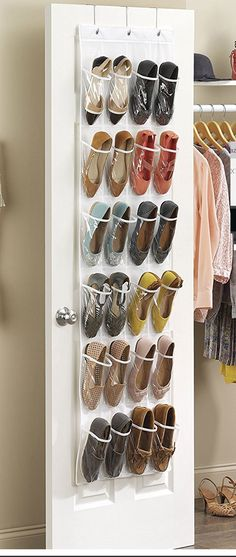 Crystal Clear Over The Door Shoe Organizer