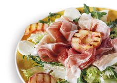 Prosciutto Amatriciano with white peaches. (Courtesy of Principe)