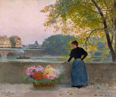 Gilbert, Victor Gabriel (b,1847)- Le Pont Nuit, La Place Dauphin