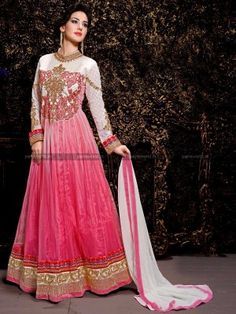 Dusty Pink Net Amazing Anarkali Salwar Kameez