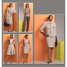 Vogue Pattern Misses' Jacket, Top, Dress, Skirt and Pants, EE (14, 16, 18, 20)