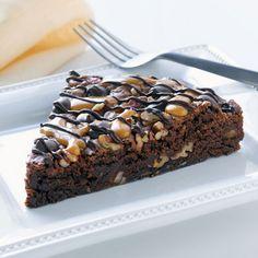 Chocolate Turtle Brownie Pie