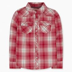 Levi's® Long Sleeve Western Plaid Top offers her the timeless style that can be dressed up or down no matter the occasion. Super-soft with a button down front, it keeps her comfortably mobile so she can play all day long. Or dress it up for a casually chic look she'll love.