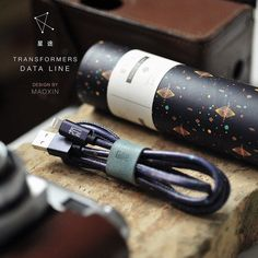 MAOXIN 1M Unique Leather Lightning to USB Cable (Planets)