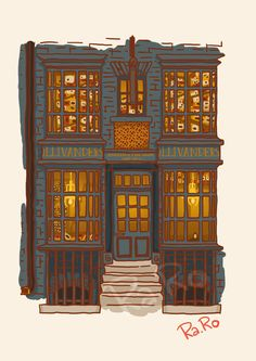 Diagon Alley: Ollivander Shop by RaRo81.deviantart.com on @DeviantArt