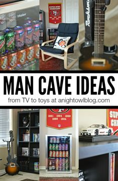 Man Cave Ideas - from TV to toys, what your man wants for his man cave!