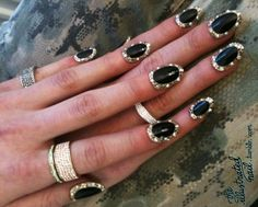 jeweled nails. by stupid cupid