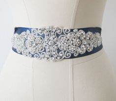 Bridal Rhinestones Sash Wedding Belts