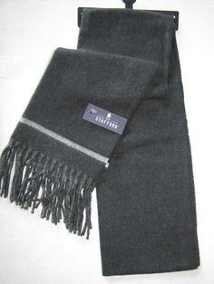 STAFFORD Men's Acrylic Scarf Black & White Retail $40 NWT #Stafford #Scarf