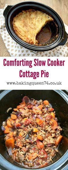 Slow cooker cottage pie – an easy recipe that will be a firm favourite with your… - Crock Pot Recipes Site Slow Cooker Shepards Pie, Slow Cooker Mince, Healthy Slow Cooker, Crock Pot Slow Cooker, Slow Cooker Potatoes, Healthy Meals, Healthy Food, Healthy Recipes, Slow Cooking