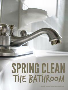 Spring Clean Bathroom