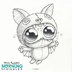 A belive what cant fly Cute Monsters Drawings, Cartoon Monsters, Little Monsters, Cute Drawings, Drawing Sketches, Animal Original, Monster Drawing, Scribble, Fantasy Creatures