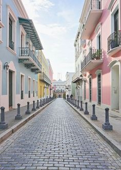 In Old San Juan, Puerto Rico. Puerto Rico Island, Puerto Rico Trip, San Juan Puerto Rico, Chicago Travel, Travel Usa, Travel Oklahoma, Perspective 1 Point, The Places Youll Go, Places To Go