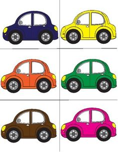 Colors - cars FREE Preschool Social Skills, Transportation Preschool Activities, Toddler Learning Activities, Preschool Colors, Numbers Preschool, Free Preschool, Folder Games For Toddlers, Card Games For Kids, Alphabet For Kids