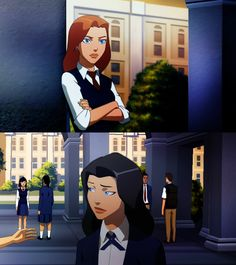 Barbara Gordon and Zatanna from 'Young Justice' I get the feeling they're having a stare-down over Dick Young Justice League, Justice League Unlimited, Young Justice Robin, Dc Comics Girls, Dc Comics Art, Marvel Dc Comics, Dc Comics Women, Barbara Gordon, Nightwing