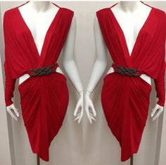 Red Scarlett dress ❤ Michael Costello