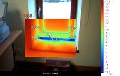 Kontrola osadzenia okna , nieszczelność okna , straty ciepła