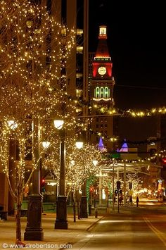 Denver - we always used to go to Denver during the holidays to look at the lights