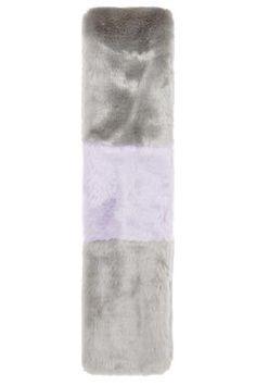 Colour-Block Faux Fur Stole