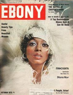 Ebony Magazine Diana Ross on cover October  1975 - EphemeraForever.com