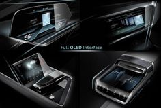 Audi e-tron quattro concept – OLED-based operating and display concept - IAA 2015