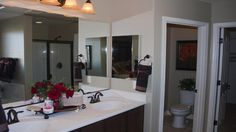 This #master #bathroom has it all, with a separate room for the toilet, and access to the #closet.