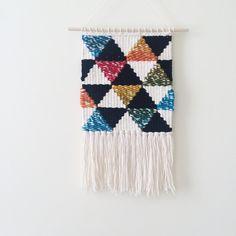 Rainbow Geometric Weaving  Woven Wall Hanging by SheLovesLife