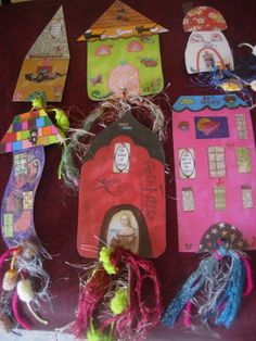 Whimsical Houses Laminated Bookmarks with Ribbons and by eltsamp, $25.00