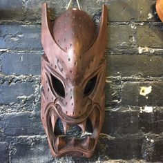 Just got in a nice lot of masks. Come check them out....you'll want all of them.  This one is hand-carved out of wood $65