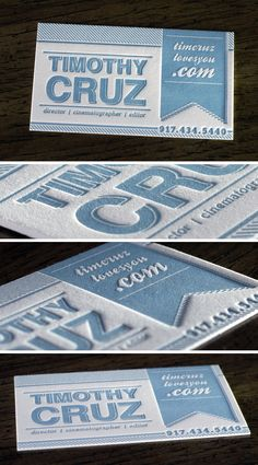 Letterpress Business Cards - Business Cards - Creattica