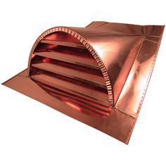 """24"""" Half Round Copper Dormer Vent"""