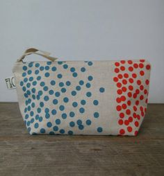 frankieandcocopdx dots cosmetic bag