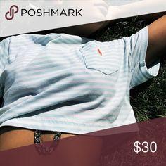Polo ralph Lauren crop top Vintage ralph Lauren crop top, good condition. Firm on price Ralph Lauren Tops Crop Tops