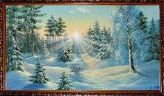 Солнечным утром в зимнем лесу - Зимний пейзаж <- Картины маслом <- Картины - Каталог | Универсальный интернет-магазин подарков и сувениров