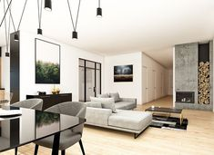 Klarowny D55 - zdjęcie 5 House Plans, Conference Room, Divider, Architecture, Furniture, Home Decor, Arquitetura, Decoration Home, Room Decor