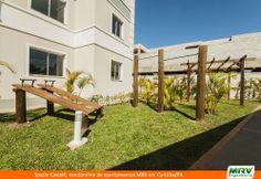 Paisagismo do Castelli. Condomínio fechado de apartamentos localizado em Curitiba / PR.
