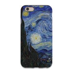 """Artwork: """"Starry Night"""" by Vincent Van Gogh Designed in Hawaii & Virginia, Printed in the USA, Step into a whole new world of creativity with our Artwork Phone Cases. The casing itself is made from ma"""