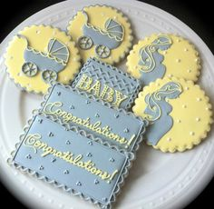 Decorated Baby Shower Cookies Perfect for a by peapodscookies
