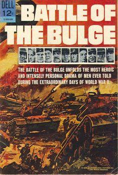 Battle of the Bulge Movie Classics) comic books Old Comic Books, Vintage Comic Books, Comic Book Covers, Vintage Comics, Retro Vintage, Led Zeppelin Poster, Remembering Dad, Western Comics, War Film