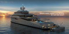 Mega yacht Purity design