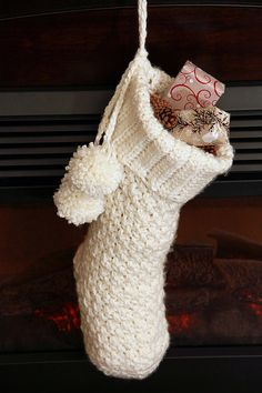 CROCHET CHRISTMAS STOCKING Pattern Christmas by PrettyDarnAdorable
