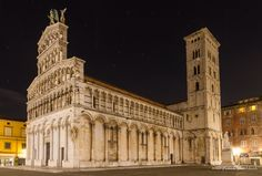 """500px / Photo """"San Michele at night, Lucca, Tuscany, Italy"""" by Frank Fischbach"""