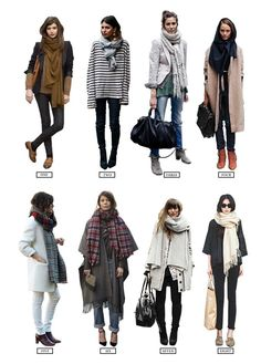 Scarfs Spring Winter Fall New York London W&D Style: The Scarf Trick