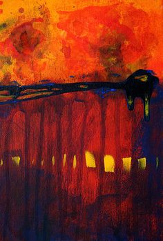 Sun Spots Abstract Painting by Nancy Merkle
