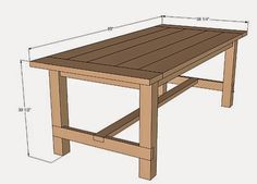 Bunker Hill Remodel: DIY farmhouse style table