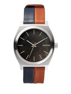 Zegarek damski Dark Copper Navy Saddle Nixon Time Teller A0451957
