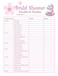 Bridal shower planning checklist - Free Printable Coloring Pages.for when I get to plan a bridal shower Bridal Shower Planner, Bridal Shower Checklist, My Bridal Shower, Wedding Planning Checklist, Bridal Shower Games, Bridal Showers, Event Planning, Bachelorette Party Checklist, Wedding Checklists